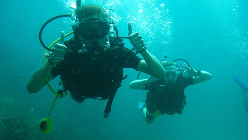 Avventuratevi nelle immersioni: ammirate i pesci e i coralli, di fronte all