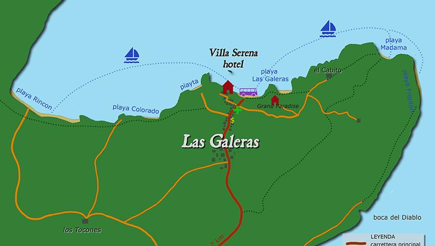 Während Ihres Urlaubs im Hotel Villa Serena befinden Sie sich in der Mitte einer großen Bucht voller Sandstrände, welche zu Fuß, per Boot, per Fahrrad oder auf dem Pferderücken zu erreichen sind. Wählen Sie aus vielen Destinationen und Arten des Reisens: ein kurzer Spaziergang, eine Wanderung in den Bergen, eine 10 minütige Bootsfahrt oder eine halbe Stunde reiten ... Es ist unmöglich eine falsche Entscheidung zu treffen. Alle aufgeführten Ausflugsmöglichkeiten werden Ihre Erwartungen übertreffen!